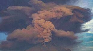 Wulkan Popocatepetl z Meksyku
