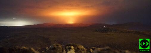 """Erupcja wulkanu na Islandii. Ze szczeliny """"zaczęły wytryskiwać fontanny lawy"""""""