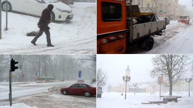 Śnieżyce sparaliżowały Białystok. Ciężarówki nie miały wstępu do miasta