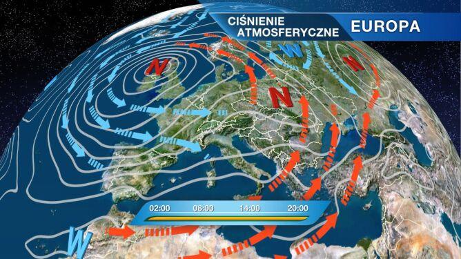 Do Polski napływa cieplejsze powietrze. <br />Mimo to będzie nam zimno